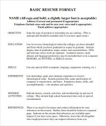 Basic Resume Template Free Samples Examples Format Intended For Free