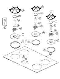 jenn air stove parts. 02-top assembly parts for jenn-air cooktop ccg2423b from appliancepartspros.com jenn air stove k