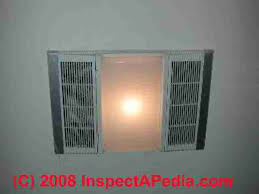bathroom ceiling vent fan heater light combination c daniel friedman