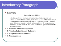 elements of an effective essay introductory paragraph  example