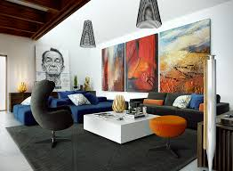 living room with eclectic artwork cute wall how to decorate a large rh blogtipsworld com artwork