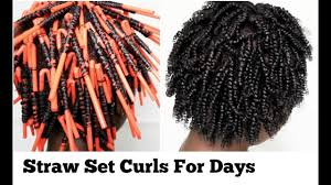 how to straw set on natural hair for longer lasting curls for days