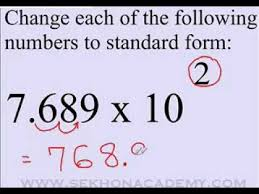 standard form physics scientific notation to standard form youtube