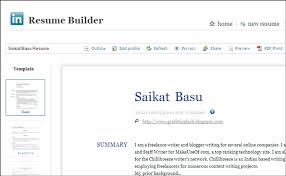 Linkedin Resume Builder 2017 Resume Builder