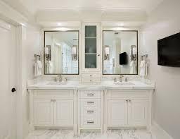 white bathroom double vanity. Simple White Bathroom Double Sink Vanities Wih Center Cabinet   White Bathroom Vanity  Cabinets And Marble Top With Double Sinks Throughout