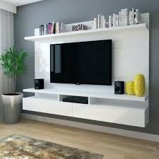 wall mount tv stand with shelves modern wall units for living room artistic furniture modular with