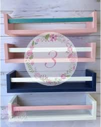 here s a great on 3 floating nursery bookshelves childrens