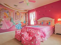 Kids Room: Fresh Nature Bedroom With Disney Themed - Girl Bedroom