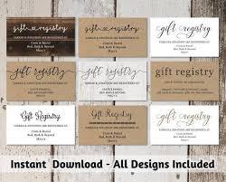 Gift Registry Template Printable Wedding Registry Card Template Printable Rustic Hearts Boho Arrow On Kraft Paper Editable Diy Pdf Instant Download