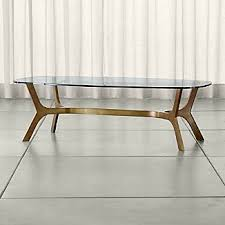 brass and glass coffee table. Elke Rectangular Glass Coffee Table With Brass Base And E