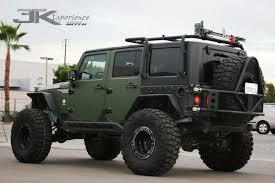 green and black jeep jk