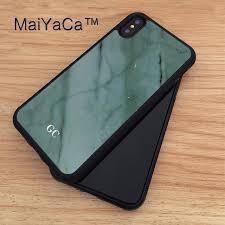 Maiyaca Custom Monogram Initials Blue Marble Printed Tpu Case For