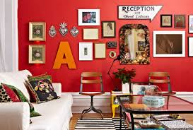 If you loved the idea of red walls when you painted them but now feel at a  loss for what else to put in the room, these decorating ideas are here to  help.