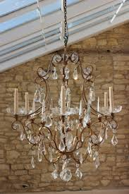 1950s six arm french chandelier