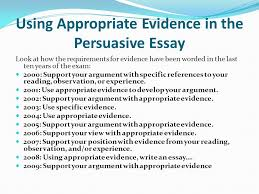 working smarter not harder strategies for mastering the  using appropriate evidence in the persuasive essay look at how the requirements for evidence have been
