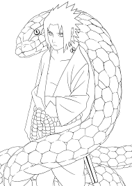 Snake Naruto Coloring Pages For Kids Printable Free Coloring