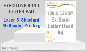 executive paper size executive bond letter pad