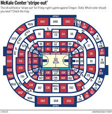 Arizona Mckale Center Seating Chart Which Colors To Wear For Mckale Center Stripe Out