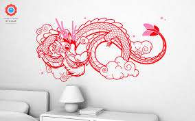 lucky dragon wall decals xl