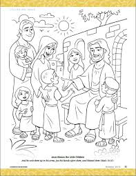 Small Picture Jesus Blesses the Little Children coloring pages bible jesus