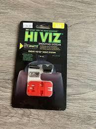 hiviz litewave ruger 10 22 fiber optic front rear sight set rg1022