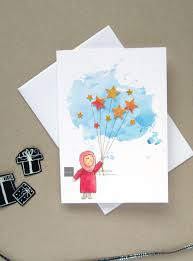 Eid Card Designs Handmade Printable Happy Eid Card Diy 3d Watercolour Card Little
