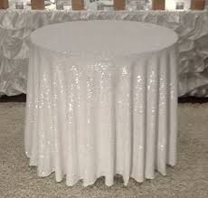 our sequin linen for round tables