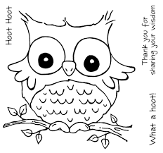 Free Cute Owl Coloring Pages To