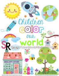 Create amazing posters without special design skills using the online editor crello. Children Color Our World Free Printable