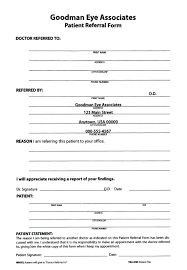 dental referral form template template patient forms template