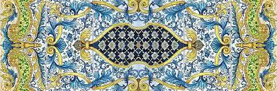handmade italian tiles and tile panels floor panel by ghenos messina details