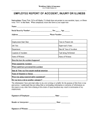 Employee Incident Report Template Form Fill Out And Sign Printable