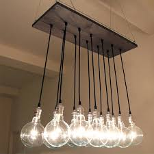 attractive edison bulb chandelier
