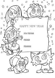 Artistic or educative coloring pages ? Kids Happy New Year Greeting Cards Coloring Page New Year Coloring Pages Birthday Coloring Pages Coloring Pages For Kids
