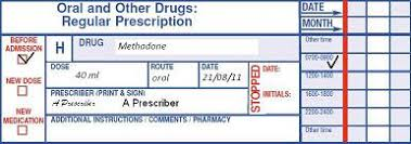 A Standard National Uk Hospital Prescription Chart Cebm