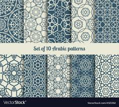 Arabic Patterns Unique Arabic Patterns Royalty Free Vector Image VectorStock