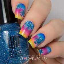 Live Love Polish UNT Lost In Paradise Snowflake Winter Sunset Nail ...