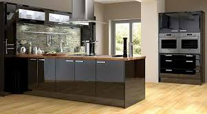 modern black kitchen cabinets. Furniture: Black Modern Kitchen Cabinets With Wooden Countertop N