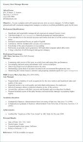 Resume Format For Store Manager Retail Store Manager Resume Retail