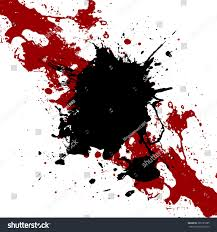 Vector ink black and red paint splatter Background. illustration vector  design