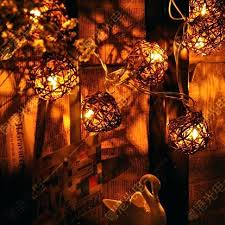 ball lights on string outdoor vintage patio globe rattan light for yard tree ornament cotton