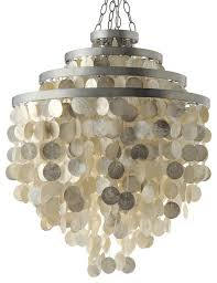 round chandelier with capiz s champagne