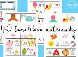 Free Printable Note Cards Free Lunchbox Notes 40 Free Printable Lunch Notecards