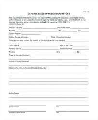 Accident Report Form Template Employee Word Incident Free ...