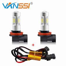 9006 Fog Light Bulb 1 Set H8 H11 H16 Hb4 9006 Led Fog Light Bulb Canbus Error Free Decoder Harness Kit Load Resistor No Obc Error Or Hyper Flash
