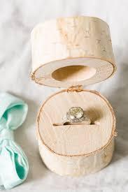 7 birch log ring box