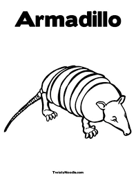 Small Picture Armadillo Coloring Page from TwistyNoodlecom Kid Art