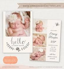 newborn baby announcement sample birth announcement template watercolor flowers cb020 5x5 card