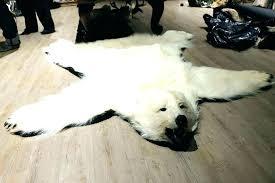 faux bear skin rugs faux bear rug faux bearskin rug white fake fur bear skin rug