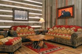 Western Living Room Furniture Nails Track Equipped Brown Motif Seating Western Living Room